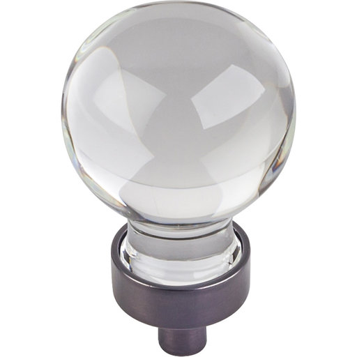 "View a Larger Image of Harlow Small Sphere Glass Knob, 1-1/16"" Dia Brushed Oil Rubbed Bronze"