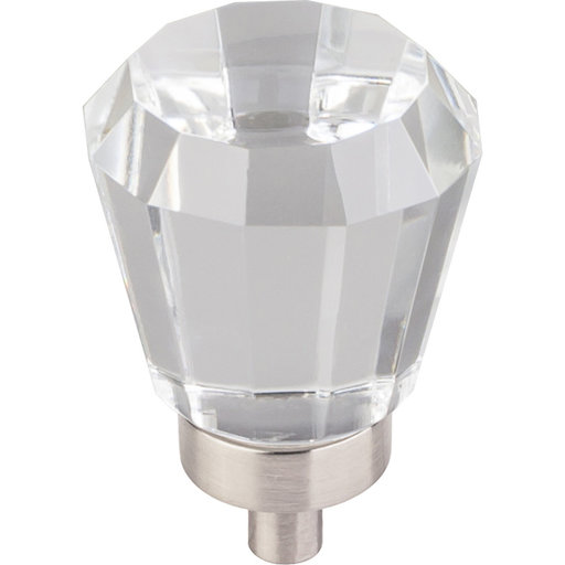 "View a Larger Image of Harlow Small Tapered Glass Knob 1"" Dia  Satin Nickel"
