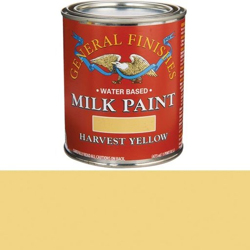 View a Larger Image of Harvest Yellow Milk Paint Pint