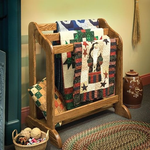 View a Larger Image of Heirloom Quilt Stand - Downloadable Plan
