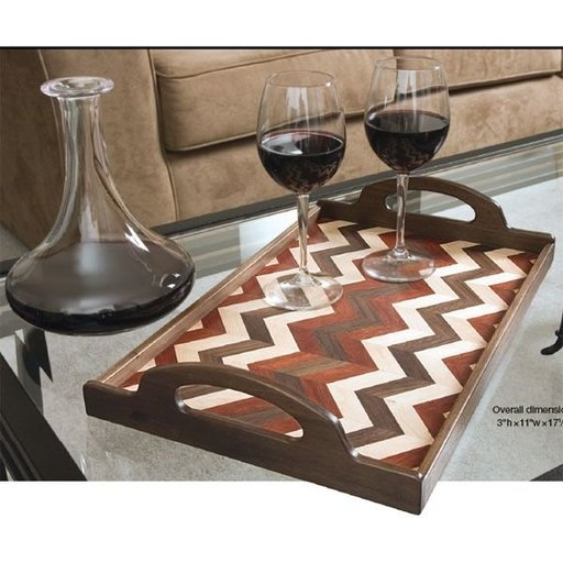 View a Larger Image of Herringbone Serving Tray - Downloadable Plan