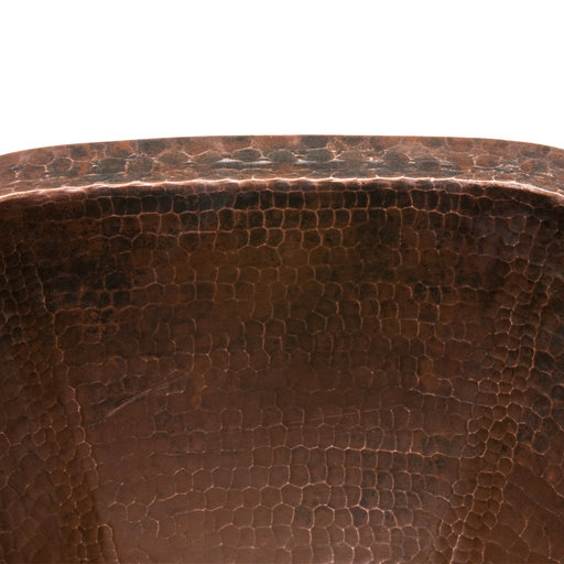 View a Larger Image of Hexagon Under Counter Hammered Copper Sink
