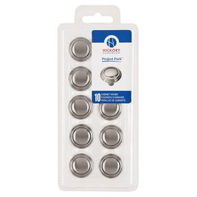 "1-1/8"" Bel Aire Cabinet Knob Project Pack, Satin Nickel, 10 pieces"