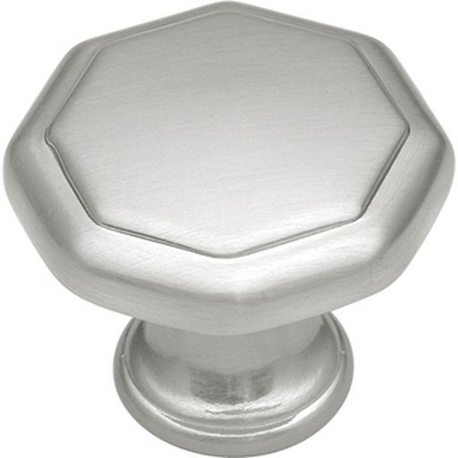 "View a Larger Image of 1-1/8"" Conquest Cabinet Knob Project Pack, Satin Nickel, 10 pieces"