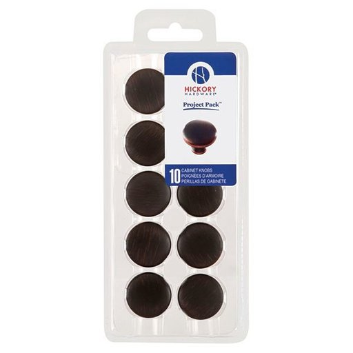 "View a Larger Image of 1-1/8"" Metropolis Cabinet Knob Project Pack, Oil Rubbed Bronze, 10 pieces"