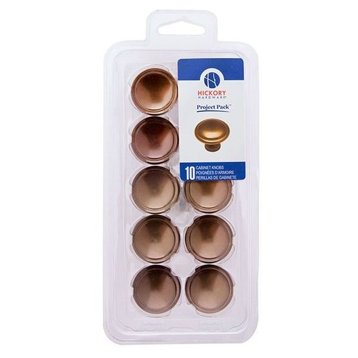 "View a Larger Image of 1-3/8"" Conquest Cabinet Knob Project Pack, Veneti Bronze, 10 pieces"
