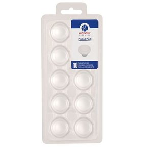 "1-3/8"" Conquest Cabinet Knob Project Pack, White, 10 pieces"