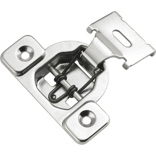 "View a Larger Image of Concealed Face Frame Hinge with 1/2"" (1-piece) Overlay Project Pack, Bright Nickel"