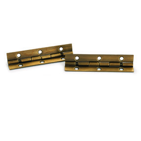 """105 degree Stop Hinge Antique Brass Plated 2"""" Pair"""