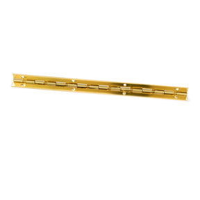 "105 degree Stop Hinge Brass Plated 8"" 1-piece"