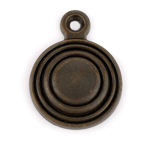 View a Larger Image of Antique Brass Bed Bolt Cover 1-piece with Screw
