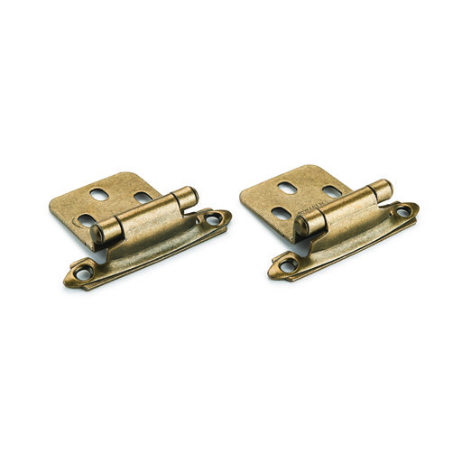 View a Larger Image of Surface Mount Hinge Antique Brass No Inset Pair