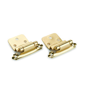 "Brass 3/8"" Inset Surface Mount Hinge, Pair"