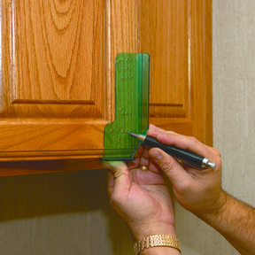 Cabinet Door Knob and Pull Template