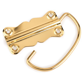 HIGHPOINT Chest Handle Polished Brass Plated 1-piece with Screws
