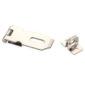 Chest Hasp Nickel Finish 1-piece with Screws