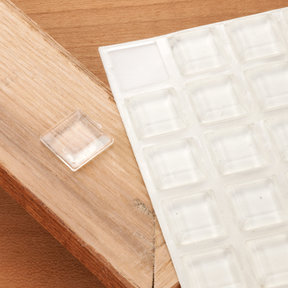 "Door and Drawer Bumper, Clear .5"" x .120"", 25pc"