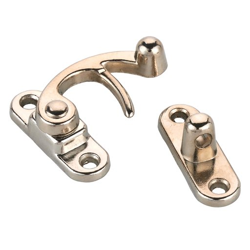 View a Larger Image of HIGHPOINT Hook Latch Small Nickel Finish 1-piece with Screws