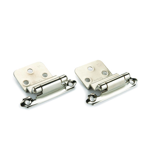 "View a Larger Image of Nickel 3/8"" Inset Surface Mount Hinge, Pair"