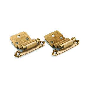"Surface Mount Hinge Oil Rubbed Bronze 3/8"" Inset Pair"