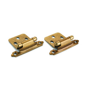 Oil Rubbed Bronze No Inset Surface Mount Hinge, Pair