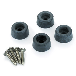 Rubber Feet 6.8 x 12mm 4-piece with screws