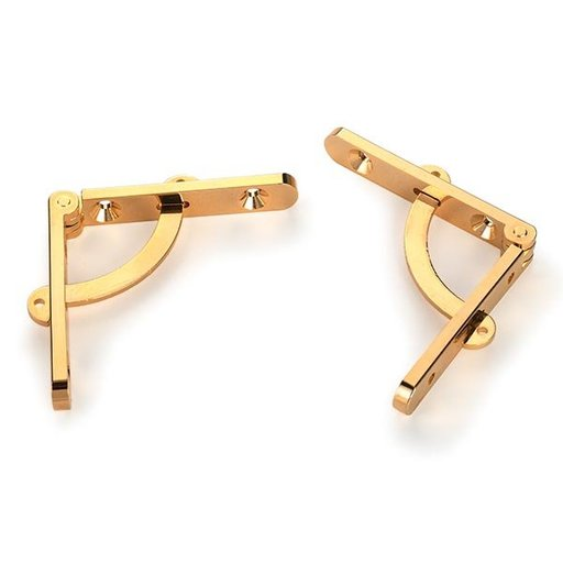 View a Larger Image of Side Rail Hinge with Stay Solid Brass Pair