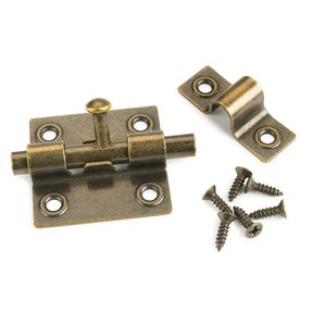 Sliding Barrel Bolt Antique Brass 1-piece with Screws