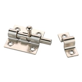 Sliding Barrel Bolt Nickel Finish 1-piece with Screws