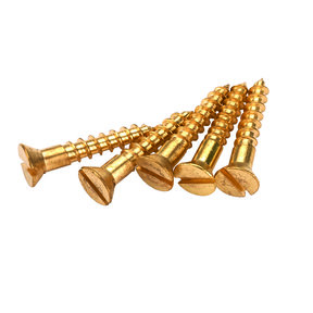 "Solid Brass Screws #1 x 1/2"" Slotted 25-piece"