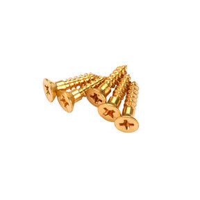 "#4 x 1/2"" Solid Brass Phillips Screws 25 pc"