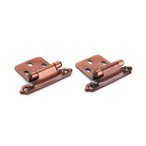 Venetian Bronze No Inset Surface Mount Hinge, Pair