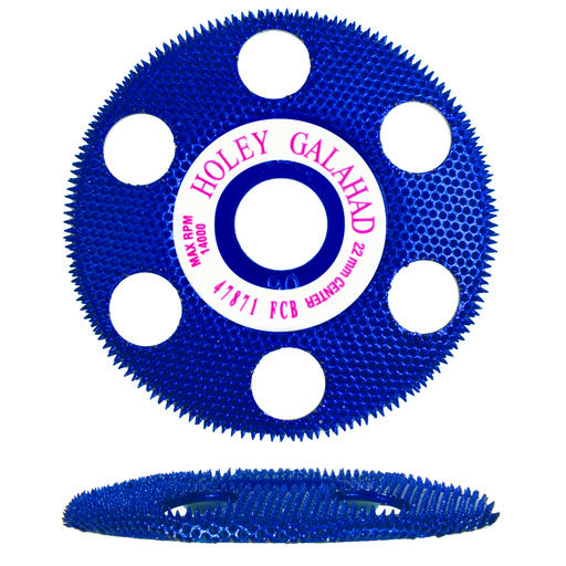 """View a Larger Image of Holey Galahad See Through Disc Flat Coarse, Blue 7/8"""" Arbor"""