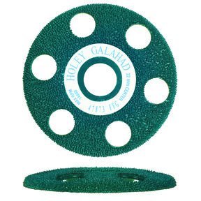"Holey Galahad See Through Disc Flat Fine, Green 7/8"" Arbor"