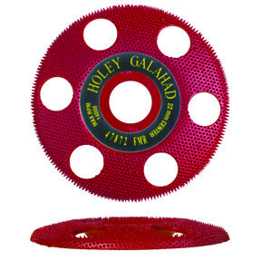 "Holey Galahad See Through Disc Flat Medium, Red 7/8"" Arbor"