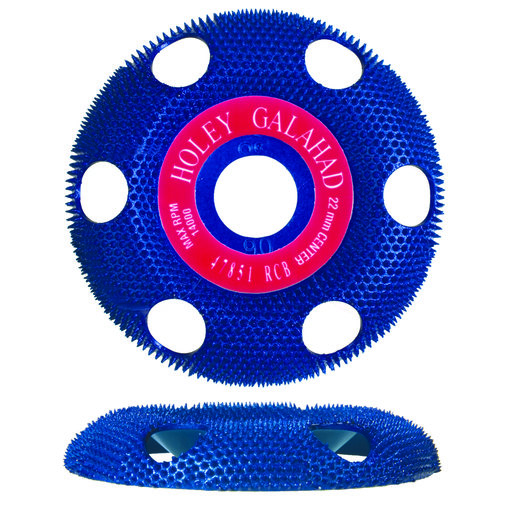 "View a Larger Image of Holey Galahad See Through Disc Round Coarse, Blue 7/8"" Arbor"