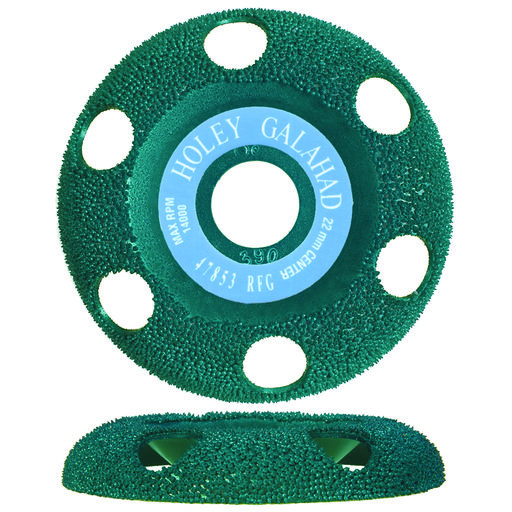 "View a Larger Image of Holey Galahad See Through Disc Round Fine, Green 7/8"" Arbor"