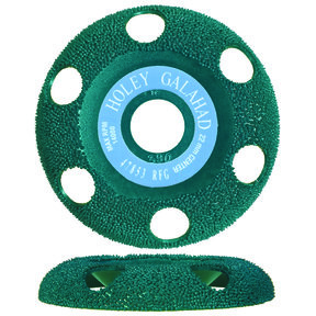 "Holey Galahad See Through Disc Round Fine, Green 7/8"" Arbor"
