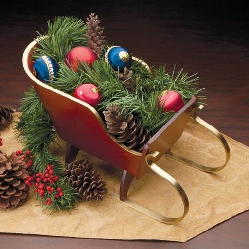 View a Larger Image of Holiday Tabletop Sleigh Downloadable Plan