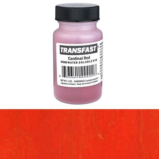 View a Larger Image of Cardinal Red Transfast Water Soluble Dye 1 oz