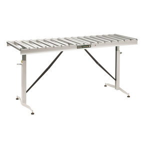 "Adjustable Folding Roller Conveyor Table, 66"" x 24"", HRT-90"
