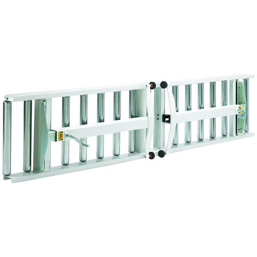 "View a Larger Image of Adjustable Folding Roller Conveyor Table, 66"" x 24"", HRT-90"