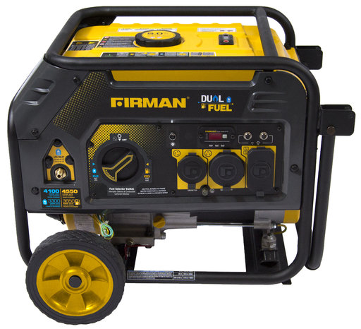 View a Larger Image of Hybrid series H03652 3650/4550 Watt Dual Fuel Generator w/Recoil Start