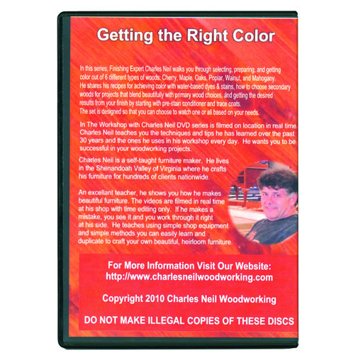 View a Larger Image of In the Workshop With Charles Neil It's All About Color 6 DVD Set