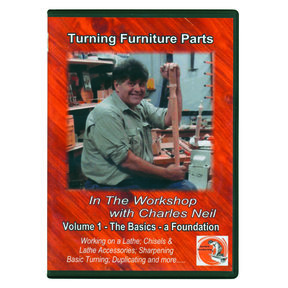 In The Workshop With Charles Neil Turning Furniture Parts DVD Vol. 1
