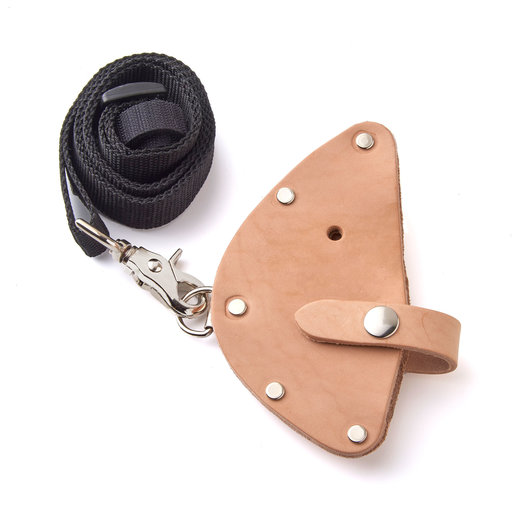 View a Larger Image of Innovation Factory Deluxe Leather Sheath with Shoulder Strap and Belt Loop