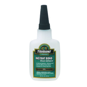 Instant Bond CA Adhesive, Gel 4-oz