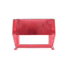 "24ct - 7-3/8""L x 4-1/8""W x 3""H Red Stacking/Hanging Bins"