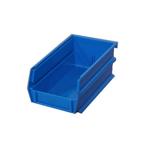 "10ct - 7-3/8""L x 4-1/8""W x 3""H Blue Stacking/Hanging Bins"