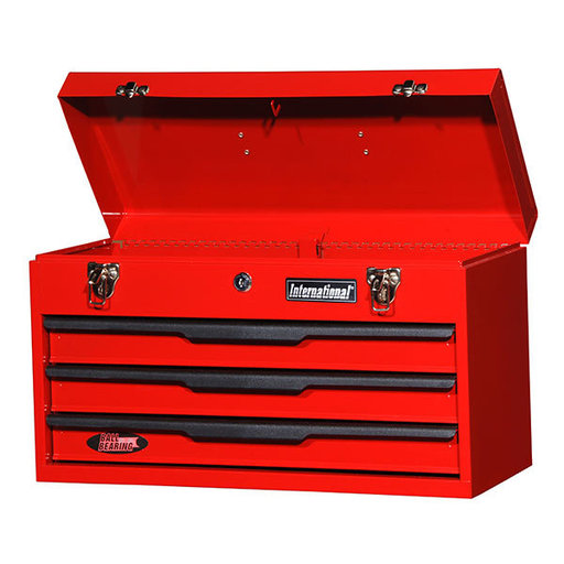 "View a Larger Image of 21"" Three Drawer Portable Chest, Red"